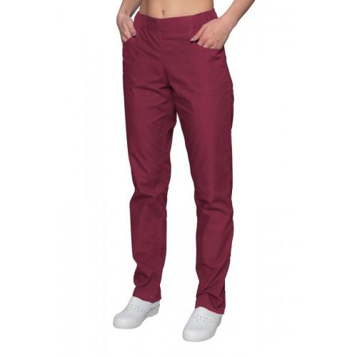 Spodnie chirurgiczne bordowe
