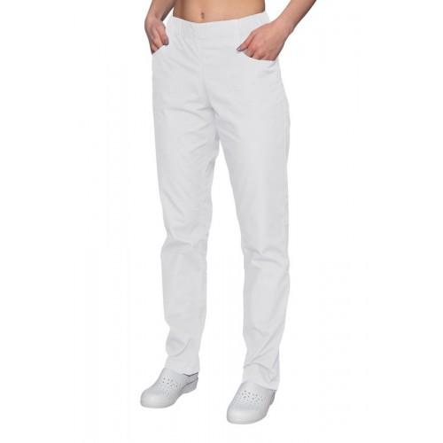 Spodnie chirurgiczne białe