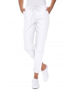 Spodnie medyczne białe...