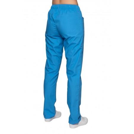 Spodnie chirurgiczne jasny niebieski tył
